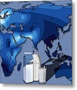 Lactose Tolerance, Eurasia And Africa Metal Print by Art For Science