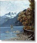 Lake Leman Metal Print by Gustave Courbet