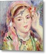 L'algerienne Metal Print by Pierre Auguste Renoir