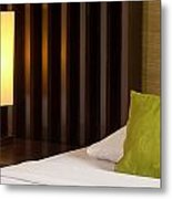 Lamp And Bed Metal Print by Atiketta Sangasaeng