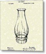 Lamp Chimney 1895 Patent Art Metal Print by Prior Art Design