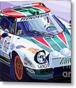 Lancia Stratos Alitalia Rally Catalonya Costa Brava 2008 Metal Print by Yuriy  Shevchuk