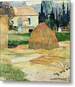Landscape Near Arles Metal Print by Paul Gauguin