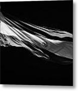 Large Argentinian Flag Flying In The Wind Against A Blue Sky Republic Of Argentina Metal Print by Joe Fox
