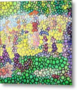 Large Bubbly Sunday On La Grande Jatte Metal Print by Mark Einhorn