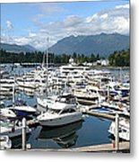 Large Marina In Vancouver Bc Canada. Metal Print by Gino Rigucci