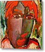 Laubar Face Adele Metal Print by Laurens  Barnard