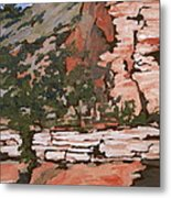 Layers Metal Print by Sandy Tracey