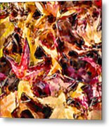 Leaves Of Glass Metal Print by Marilyn Sholin