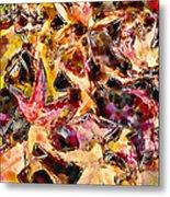 Leaves On Acid Metal Print by Marilyn Sholin