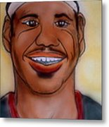 Lebron James Metal Print by Pete Maier