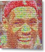 Lebron James Pez Candy Mosaic Metal Print by Paul Van Scott