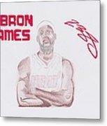 Lebron James Metal Print by Toni Jaso