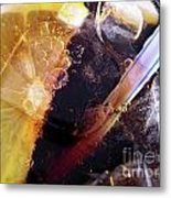 Lemon And Straw Metal Print by Carlos Caetano
