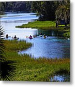 Let's Kayak Metal Print by Judy Wanamaker