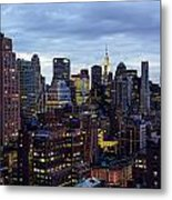 Life In The Big City Metal Print by Janet Fikar
