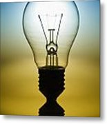 Light Bulb Metal Print by Setsiri Silapasuwanchai