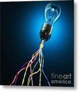 Light Global Connection Metal Print by Gualtiero Boffi