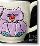 Lightning Nose Kitty Mug Metal Print by Joyce Jackson