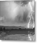 Lightning Striking Longs Peak Foothills 6bw Metal Print by James BO  Insogna