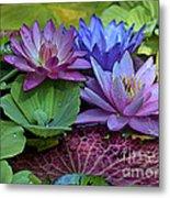 Lilies No. 27 Metal Print by Anne Klar