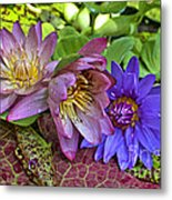 Lilies No. 29 Metal Print by Anne Klar