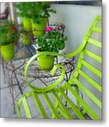 Lime Green Metal Print by Cindy Wright