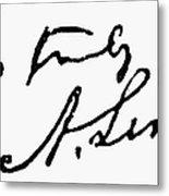 Lincolns Autograph Metal Print by Granger