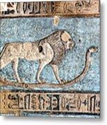 Lion At Dendera, Egypt Metal Print by Joe & Clair Carnegie / Libyan Soup