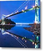 Lions Gate Bridge, Vancouver, Canada Metal Print by David Nunuk