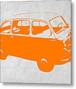 Little Bus Metal Print by Naxart Studio