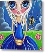 Little Miss Muffet Metal Print by Jaz Higgins