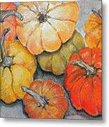 Little Pumpkins Metal Print by Hilda Vandergriff