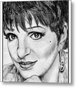 Liza Minnelli In 2006 Metal Print by J McCombie