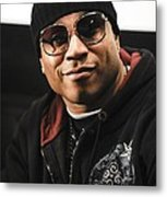 Ll Cool J At The Press Conference Metal Print by Everett