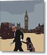 London Matrix Baddie Agent Smith Metal Print by Jasna Buncic