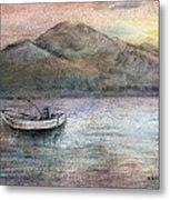 Lone Fisherman Metal Print by Arline Wagner
