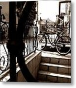 Lonely Bike Metal Print by Birut Ces