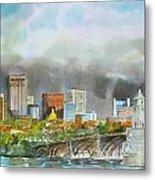 Longfellow Bridge Boston Metal Print by Harding Bush