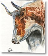Longhorn Metal Print by Jana Goode
