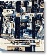 Looking Down Color 6 Metal Print by Scott Kelley