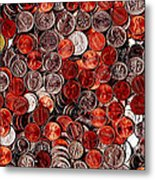 Loose Change . 2 To 1 Proportion Metal Print by Wingsdomain Art and Photography