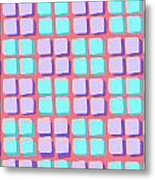 Lots Of Squares Metal Print by Louisa Knight
