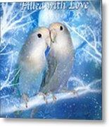 Love At Christmas Card Metal Print by Carol Cavalaris