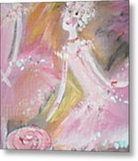 Love Rose Ballet Metal Print by Judith Desrosiers