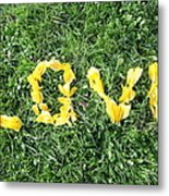 Love Spelt Out With Flowers Metal Print by G Fletcher