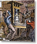 Lovejoys Printing Press Metal Print by Granger