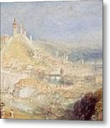 Lucerne From The Walls Metal Print by Joseph Mallord William Turner