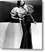 Lupe Velez Wearing Blue Satin Skirt Metal Print by Everett