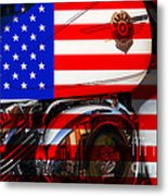 Made In The Usa . Harley-davidson . 7d12759 Metal Print by Wingsdomain Art and Photography